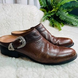 ARIAT western leather bootie slides size 11